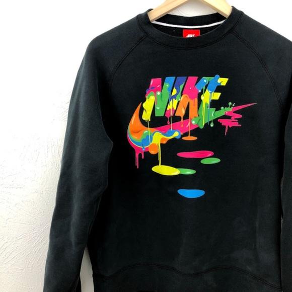 219578d6d86a Nike Unisex Swoosh Paint Drip Crewneck Sweatshirt.  M 5a7b33ff9a9455c4be1e494f